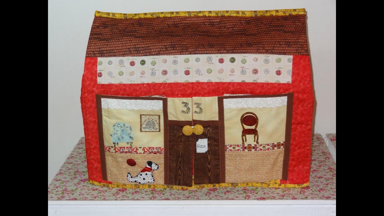 Capa para m quina de costura em patchwork e apliqu a - Casas de patchwork ...