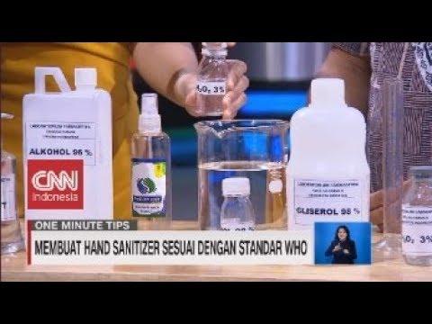 Membuat Hand Sanitizer Sesuai Dengan Standar Who Youtube
