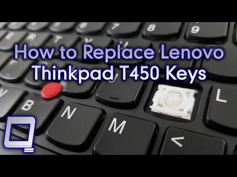 How to Replace Lenovo Thinkpad T450 Keys - YouTube