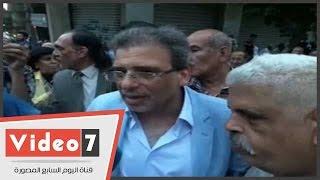 النائبان خالد يوسف والحريرى يشاركون أصحاب المعاشات فى إفطار العيش الحاف