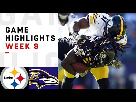 Steelers vs. Ravens Week 9 Highlights | NFL 2018