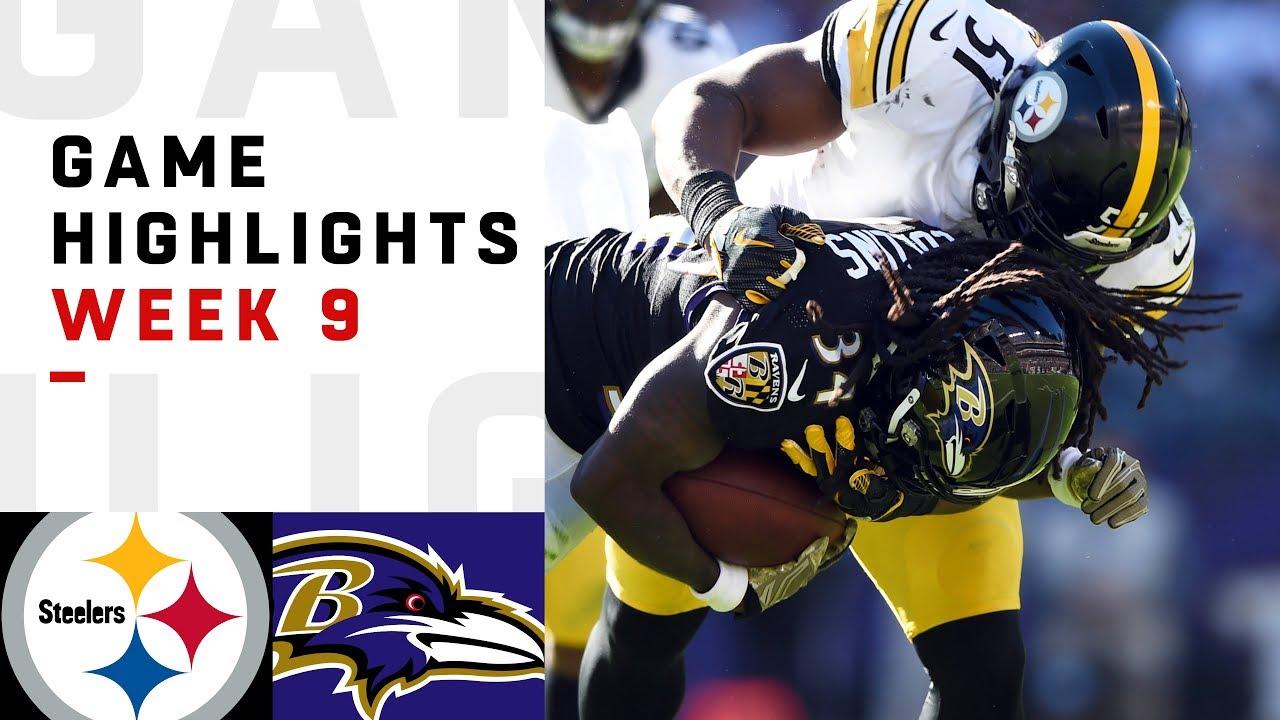 Steelers vs. Ravens Week 9 Highlights | NFL 2018