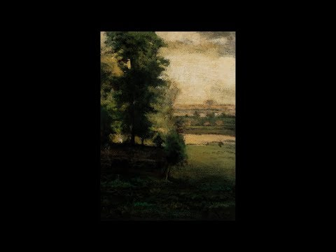 Study after: George Inness Scene at Durham Tonalist Landscape Oil Painting