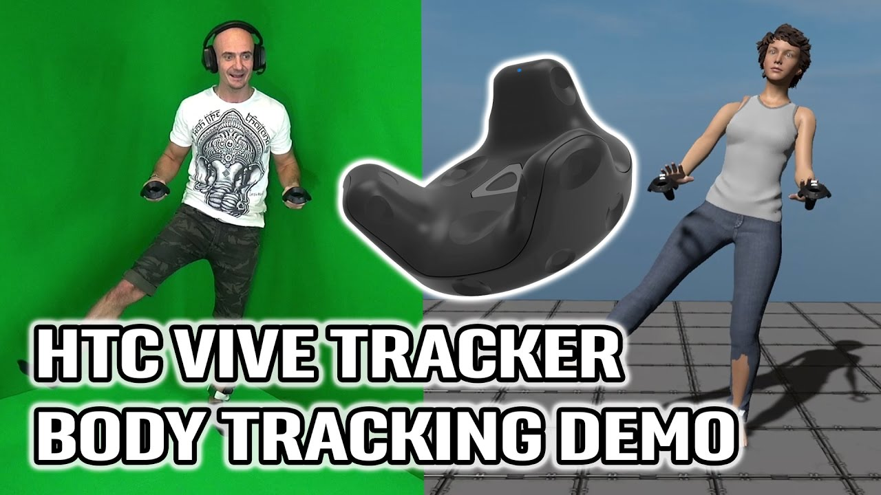 HTC Vive Full Body Tracking Demo in VR Hands on Vive Trackers for