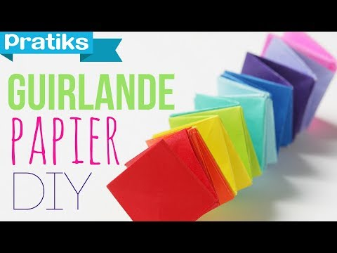 Comment faire une guirlande en papier youtube - Comment faire une belle creche de noel ...