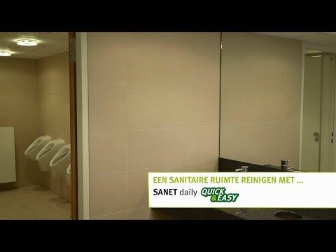 REINIGING VAN SANITAIR MET SANET DAILY QUICK & EASY