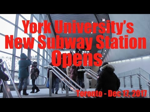 York University's New Subway Station Opens 🇨🇦 Toronto