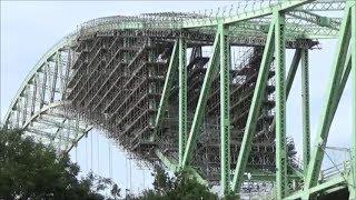 The Silver Jubilee Bridge or Runcorn Bridge Closed For Repaint  Brush, Roller Or Spray  Application?