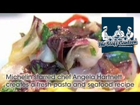 Michelin starred chef Angela Hartnett creates a fresh pasta and seafood recipe