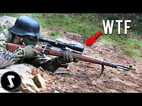 Real War-time Mauser Kar98k To Airsoft Gun Conversion In ACTION