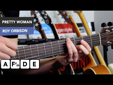 Oh Pretty Woman Guitar Lesson Tutorial - Roy Orbison - Chords & Riff!