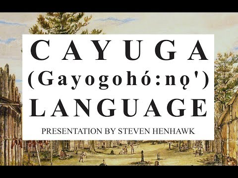 Cayuga Language Presentation