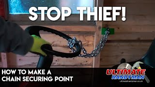 How to make a chain securing point