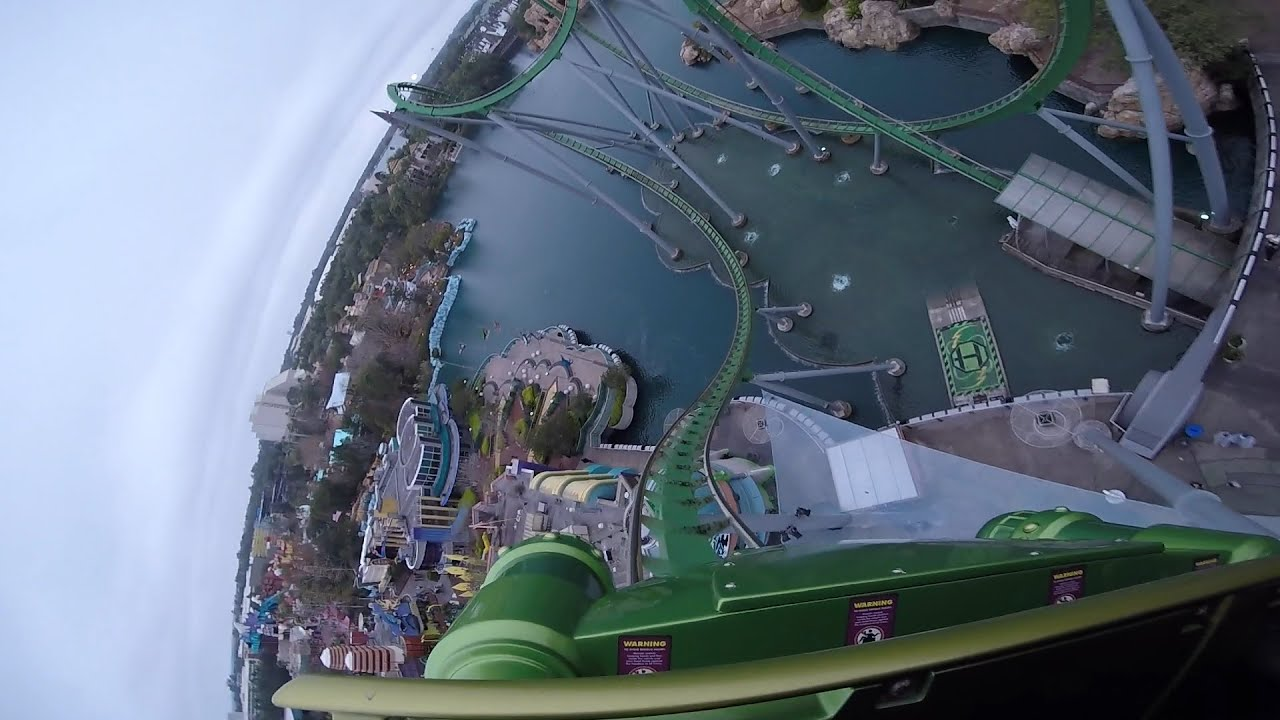 The Incredible Hulk Pov Hd Roller Coaster Universal On