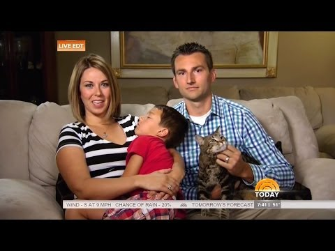 Hero House Cat Saves Boy From Dog Attack – Today Show – May 15 2014