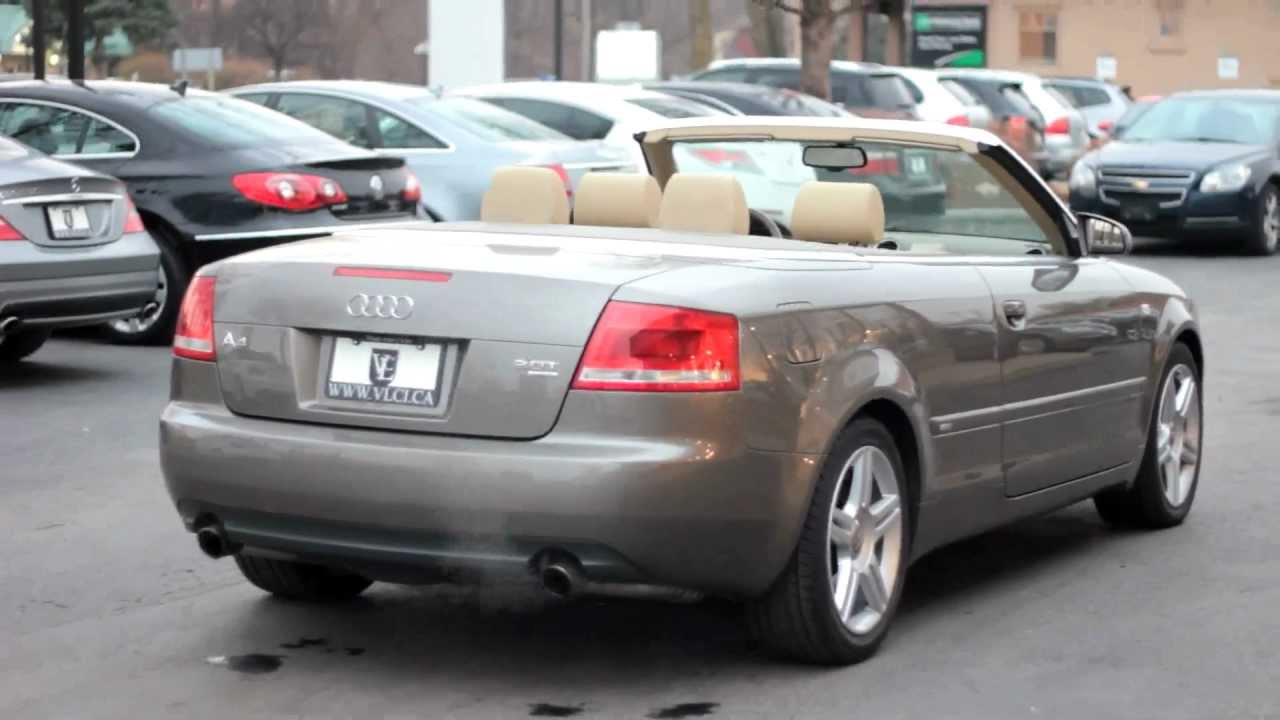 2007 audi a4 cabriolet 2 0t village luxury cars toronto youtube. Black Bedroom Furniture Sets. Home Design Ideas