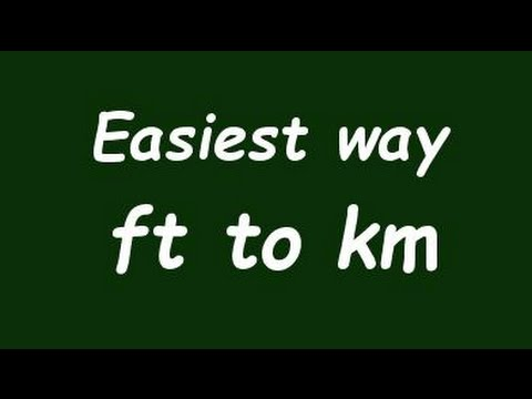 Convert Foot To Kilometer Ft Km Example And Formula