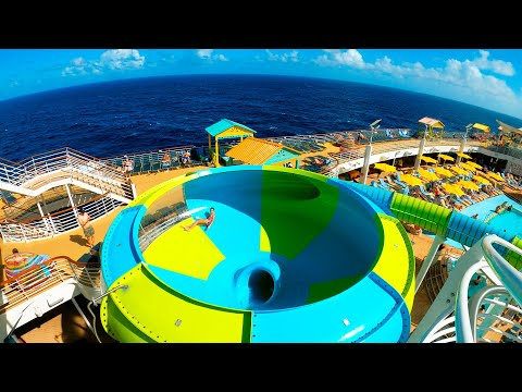 INSANE WATERSLIDES ON A CRUISE SHIP! | Cruise Vlog Day 6