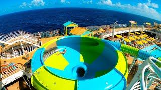 INSANE WATERSLIDES ON A CRUISE SHIP! | Cruise Vlog Day 6