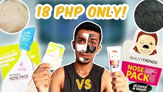 CHEAP NOSE PACK BATTLE- iWhite Korea VS. BeautyTrends (18 Php lang!!)