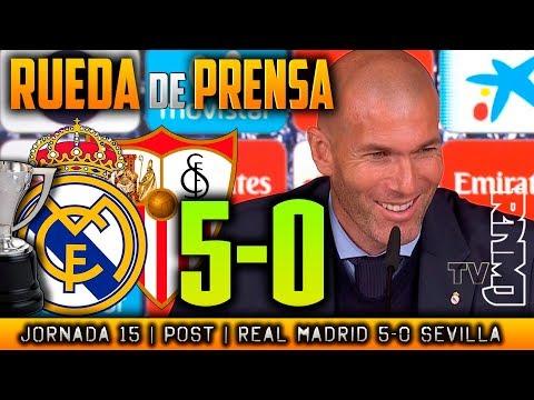 Real Madrid 5-0 Sevilla Rueda de prensa de Zidane (09/12/2017)   POST LIGA JORNADA 15