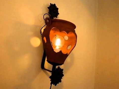 F brica de apliques y decoraci n r stica youtube - Apliques y lamparas ...