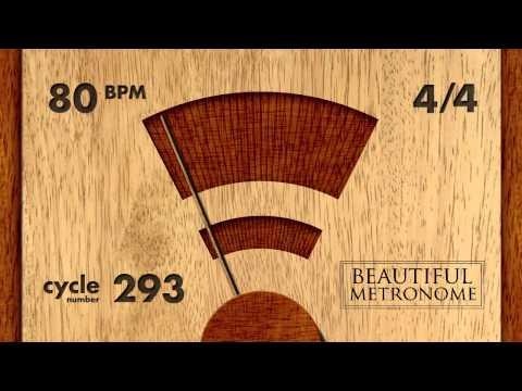 80 BPM 4/4 Wood Metronome HD