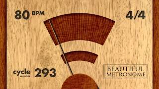 80 BPM 4/4 Wood Metronome HD
