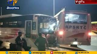 18 Injured in 2-Bus Crash at kothakota | Wanaparthy Dist