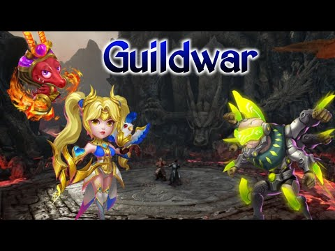 Guildwar | H2H | Beast Dove With New Pet | Asura/Walla | Vs No.1 And No.2 Guild | Castle Clash