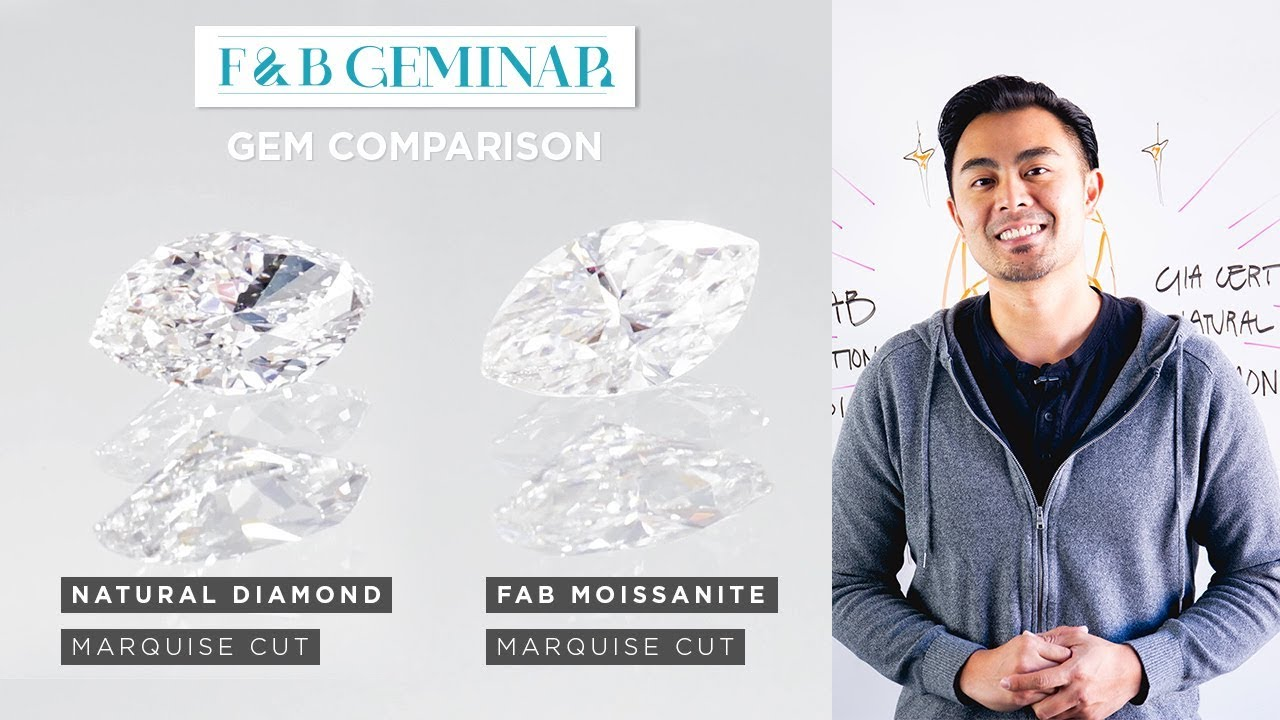 FAB Marquise Moissanite vs  Natural Marquise Diamond
