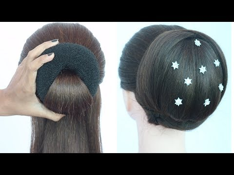 new big bun hairstyle with trick || hairstyle for long hair || easy hairstyle for party || hairstyle thumbnail