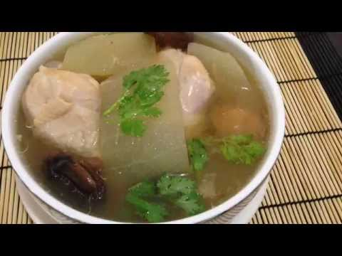 Winter Melon With Pickle Lime Soup Recipes. ไก่ตุ๋นฟักมะนาวดอง (รับรองไม่ขม)