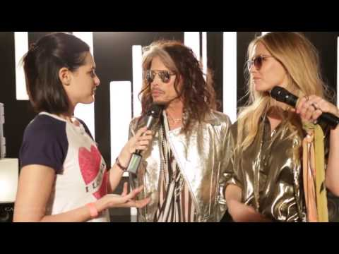 Steven Tyler from Aerosmith and Bar Refaeli for Carolina Lemke