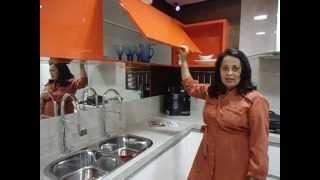 Cozinha da mostra Morar Mais por Menos em Vitória