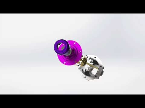 Gearbox assembly explode motion study cgi
