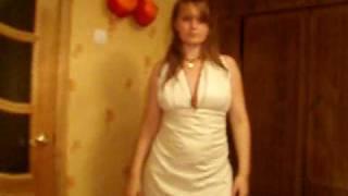 Прикол. Самодельное свадебное платье)))