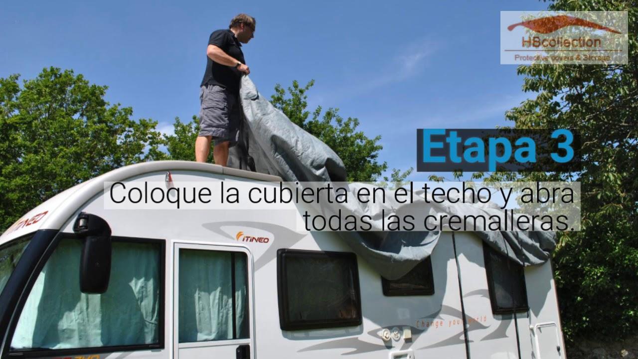 LxlxH 9.50x2.60x2.80m HBCOLLECTION Funda Transpirable para Autocaravana Integral