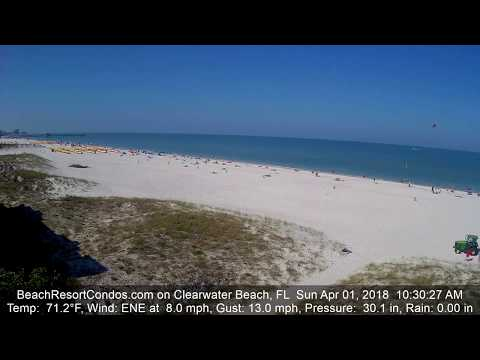 Easter Sunday 2018 on Clearwater Beach in Florida