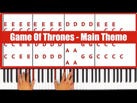 ♫ ORIGINAL - How To Play Game Of Thrones Main Theme Piano Tutorial Lesson! - PGN Piano