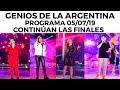 Genios de la Argentina en Showmatch - Programa completo 05/07/19 - Continúan las finales