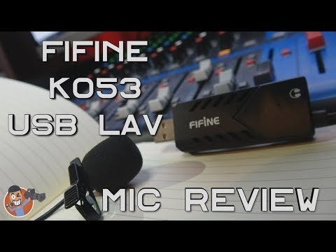 BEST USB LAV MIC HANDS DOWN!! FiFine K053 USB Lavalier Mic Review