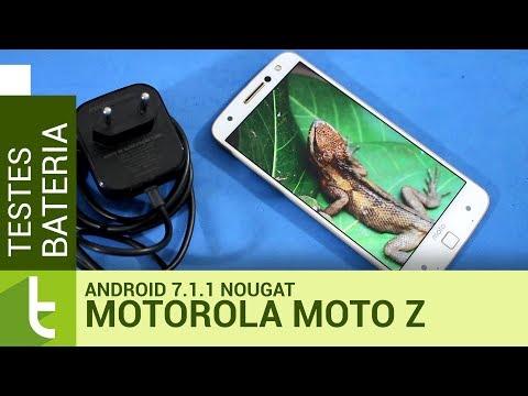Autonomia do Moto Z com Android 7.1.1 Nougat | Teste de bateria oficial do TudoCelular