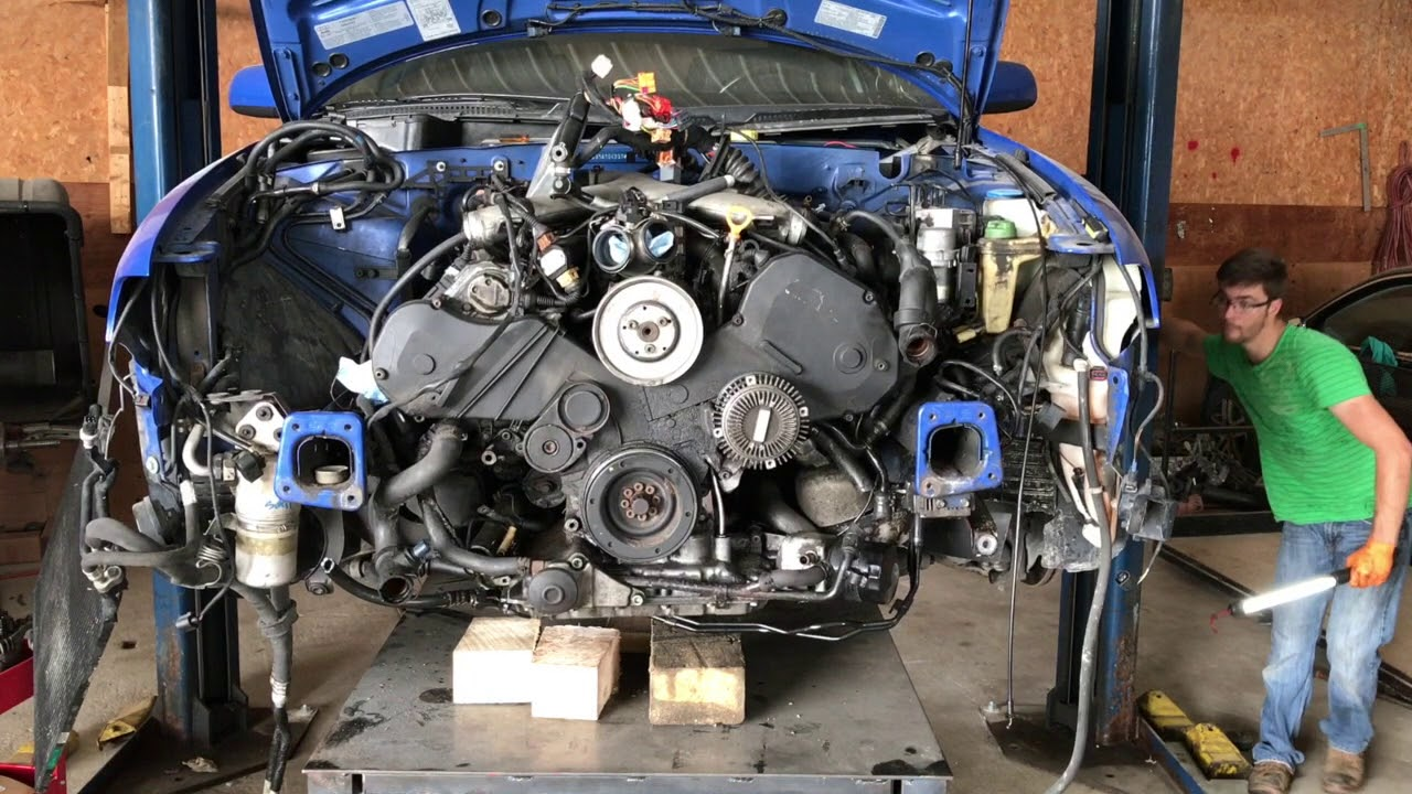 2.7 Audi Engine Removal! - YouTubeYouTube