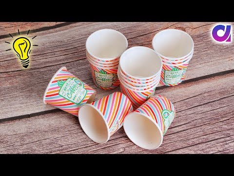10 Best out of waste Disposal Tea Glass Reuse Idea | Arts and Crafts