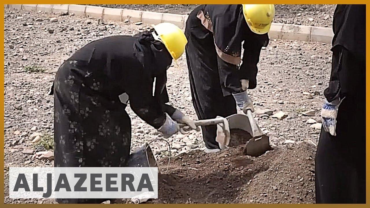 Women take on manual labour jobs in war-torn Yemen