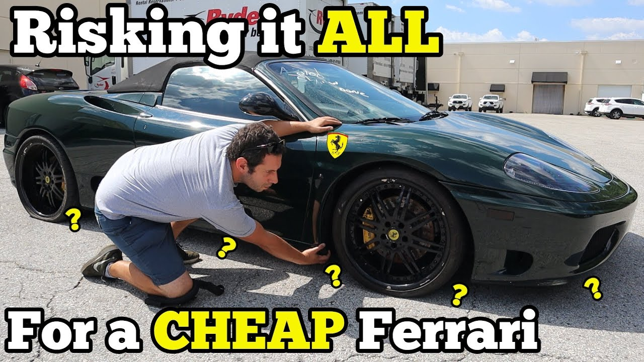 I Bought A Totaled Ferrari At Salvage Auction With Mystery Undercarriage Damage Sight Unseen Youtube
