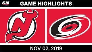 NHL Highlights   Devils vs Hurricanes – Nov. 2, 2019