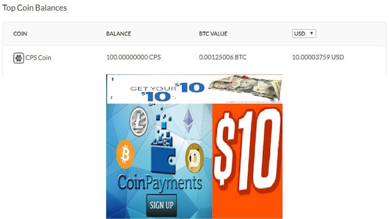 """get 100 cps coins worth 0 001 btc or 10$ free from walletget 100 cps coins worth 0 001 btc or 10$ free from wallet """" coinpayments """""""