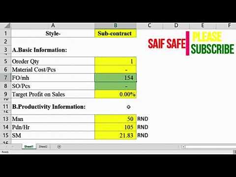 Sub Contract Price Quotation or Rate ||  কেপাসিটি খালি সাব কন্ট্রাক মূল্য কিভাবে নিরধারন করবেন